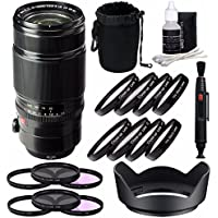 Fujifilm XF 50-140mm f/2.8 R LM OIS WR Lens + 72mm 3 Piece Filter Set (UV, CPL, FL) + 72mm +1 +2 +4 +10 Close-Up Macro Filter Set with Pouch Bundle 7