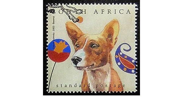 Amazon com: Basenji dog -Handmade Postage Stamp Art 0723