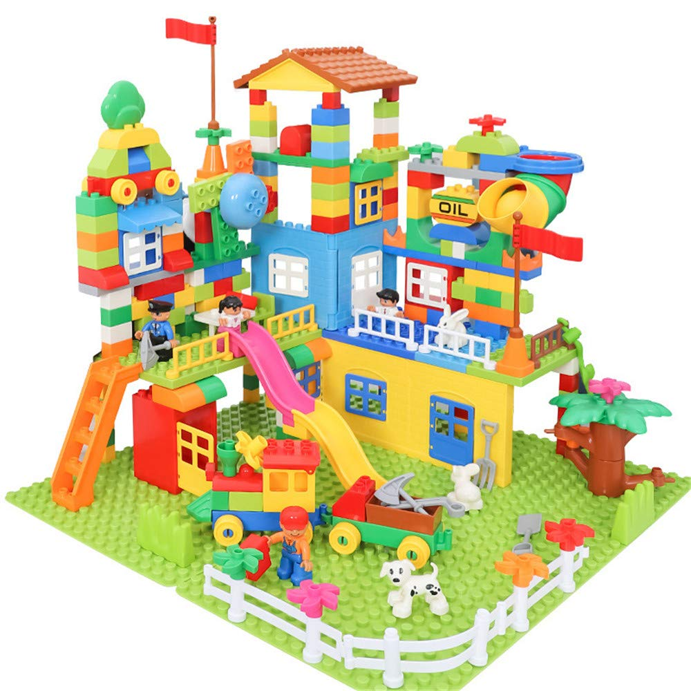 Kindlov-toys Children Early Education Toy Children's Building Blocks to Hold The 3-4-5-6, Assembling Large Particles Fancy Male Girl Toy Gifts Toy for Boys and Girls (Size : 226pcs)