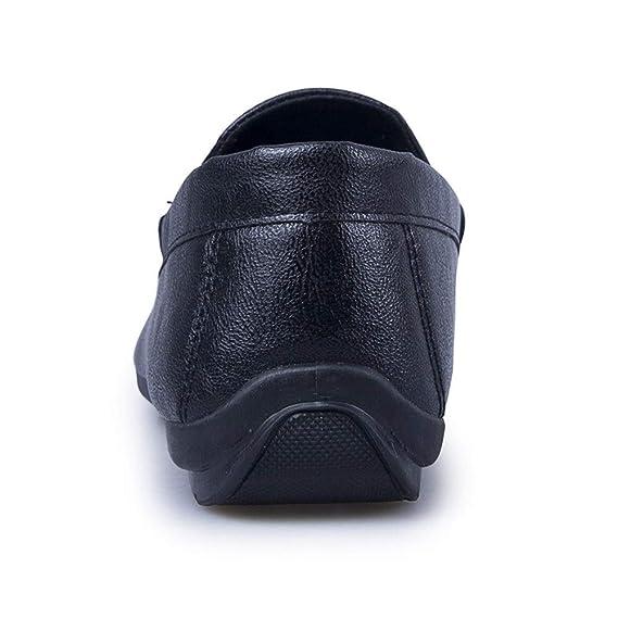 HILOTU Mocasines para hombre Zapatos De Cuero De PU De Confort ...