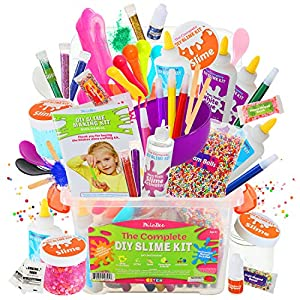 DilaBee Launch Sale - DIY Slime Making Kit - {48 Piece} Super Jumbo Starter Set – Safety Tested & Certified! Non-Toxic Slime Accessories & Supplies for Girls and Boys – Instructions Included