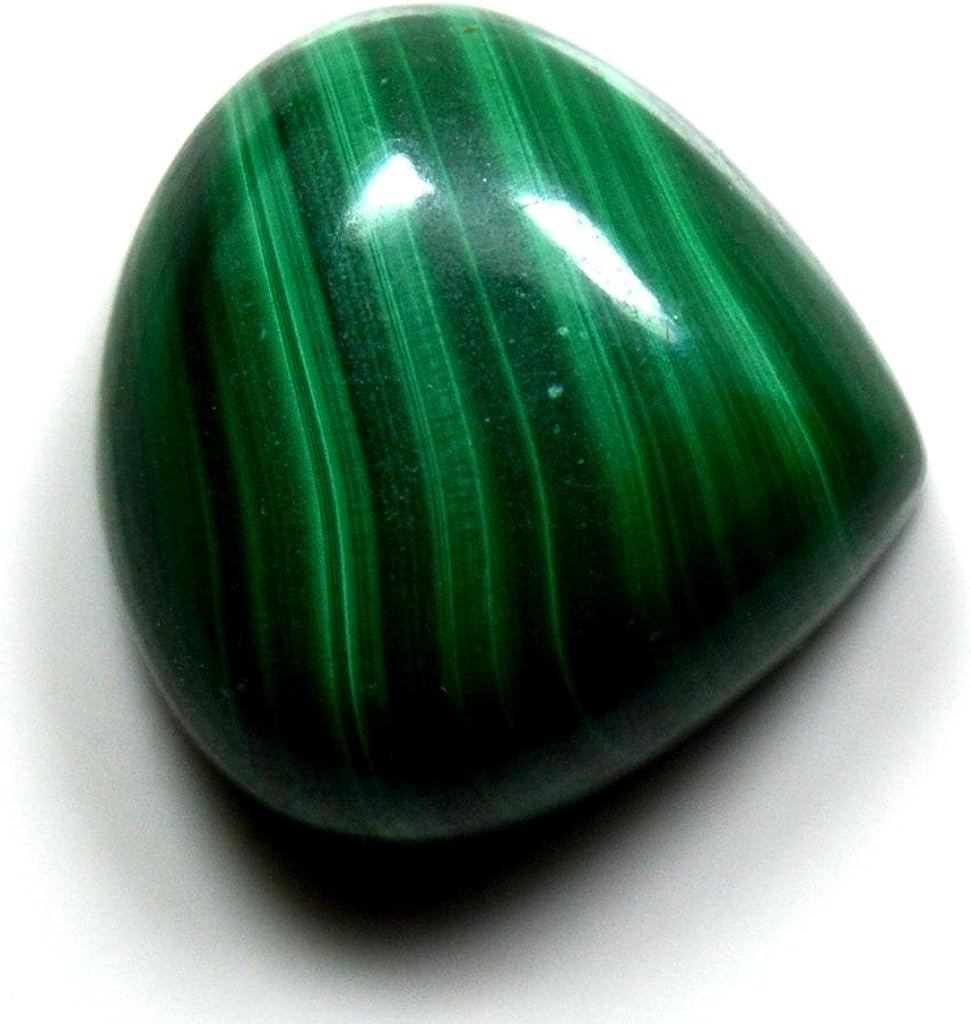 Rolled stone pendant 55 carats Malachite