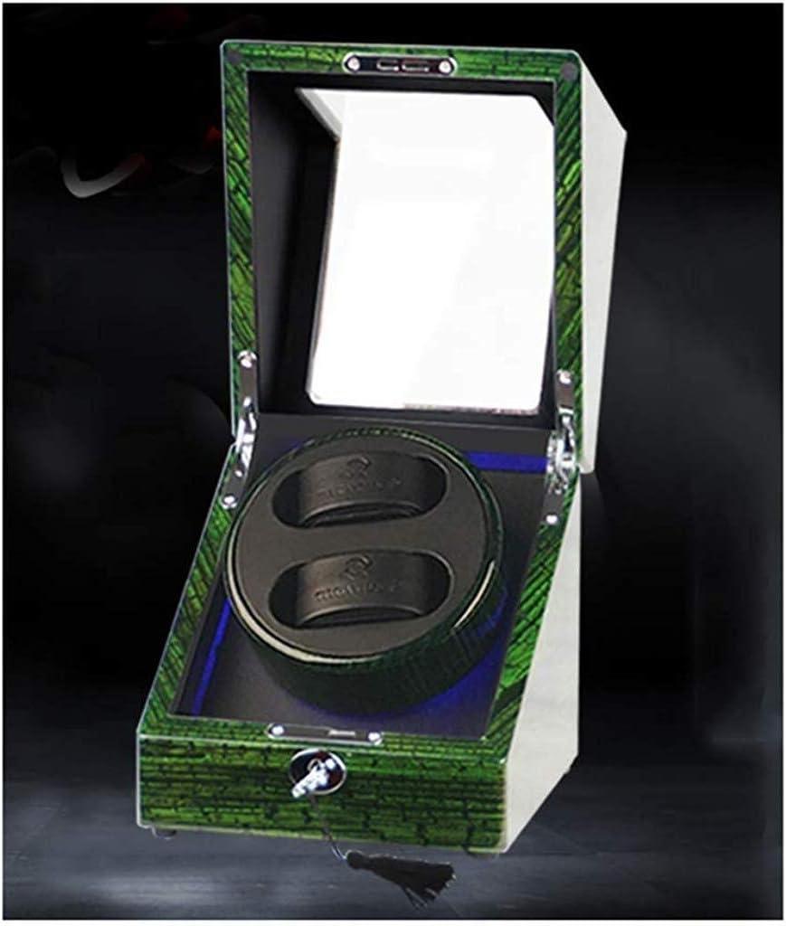 ギフトウォッチワインダーウォッチワインダーボックス自動2 + 0ウォッチワインダーワインディングボックス和音スイングウォッチターンテーブル装置機械式時計ストレージ(カラー:B)、色名:B (Color : B)