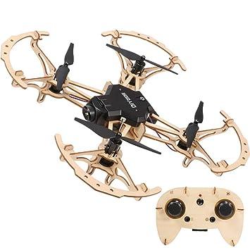 HAWK LI Drone DIY de Madera Mini Pocket Racing RC montado ...