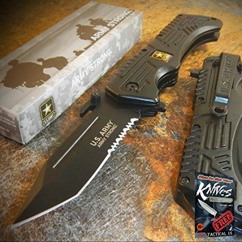 - US ARMY Spring Assist RESCUE Folding Pocket Tactical Military TANTO Blade Elite Knife + free eBook by ProTactical'US