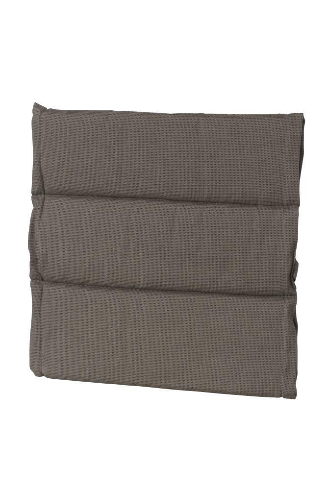 6 Stück MADISON Dessin Rib Hockerauflage, Sitzkissen, Sitzpolster, 100% Polyester, 50 x 50 x 4 cm, in braun