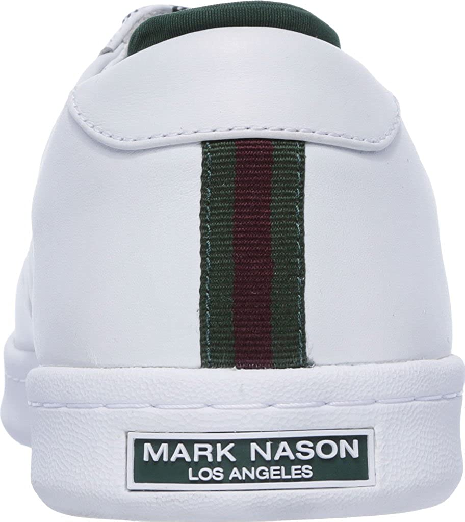 best sneakers 3e32a d2bb1 Amazon.com   Mark Nason Los Angeles Men s Crossroads Sneaker, White Green  Leather   Fashion Sneakers