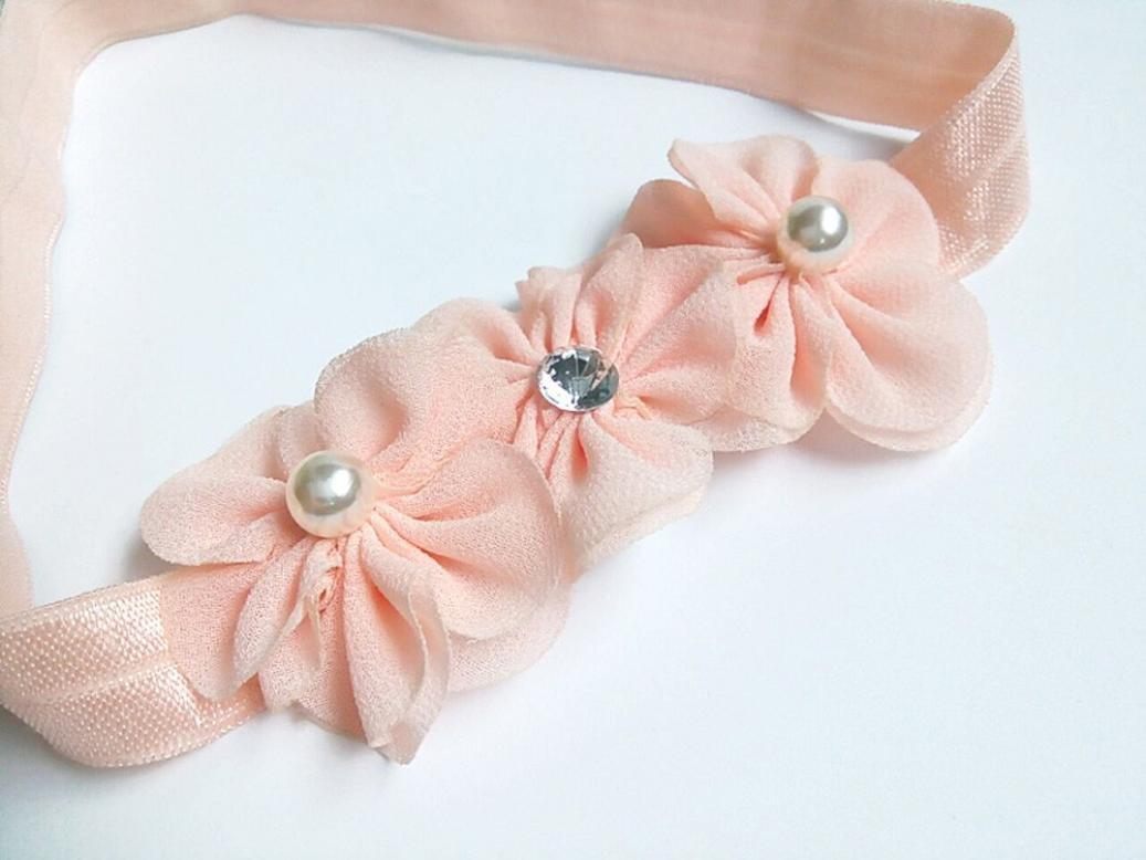 BBsmile diademas bebe niña diademas bebe recien nacidos Perla corona banda  para el pelo elasticas cintas ... 3b6f4f7a794