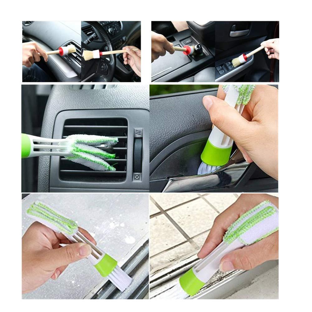 PoeHXtyy 11 PCS Auto Detailing Brush Set Automobile Climatiseur Cleaner Brosse pour Nettoyage Weels Int/érieur Ext/érieur en Cuir
