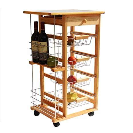 Awesome Amazon Com Hlwawa Wood Kitchen Storage Cart Dining Trolley Download Free Architecture Designs Scobabritishbridgeorg
