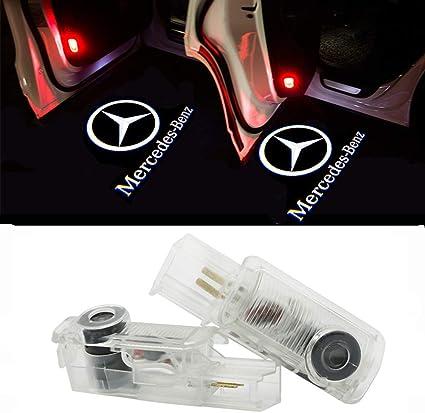 ZTMYZFSL 2 Unids Coche Logo Proyecci/ón Proyector LED Puerta fantasma Shadow Light Bienvenido L/ámpara de Luz