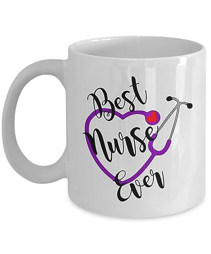 Cutie Nurses Stethoscope Heart Mug Funny Gift Best Nurse Ever Or Nursing Student RN Coffee