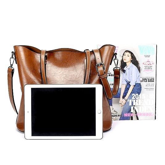 45551807c027 OMIU Women Handbags PU Leather Shoulder Bags Messenger Purses Tote Bags  Handbags for Women 001 Black  Handbags  Amazon.com