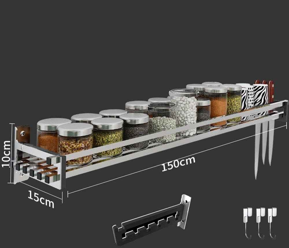 Étagères de cuisine en acier inoxydable 304 étagères murales murales porte-meubles ( taille : 10*15*150cm )