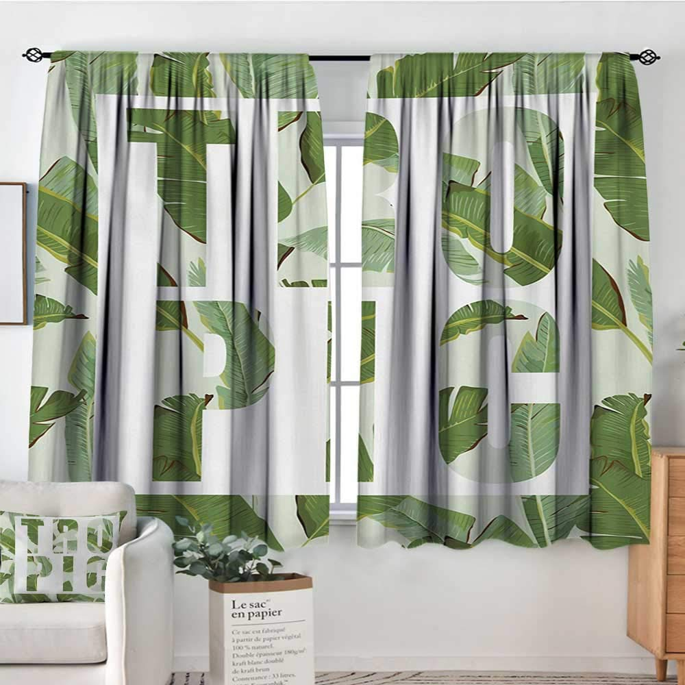 color13 42 W x 45 L Elliot Dgoldthy Curtains for Bedroom Green,Doodle Style Drawing of Alien Frogs Fantasy Theme Watercolors Cartoon Like Pattern Kids,Green,Insulating Room Darkening Blackout Drapes 42 x54