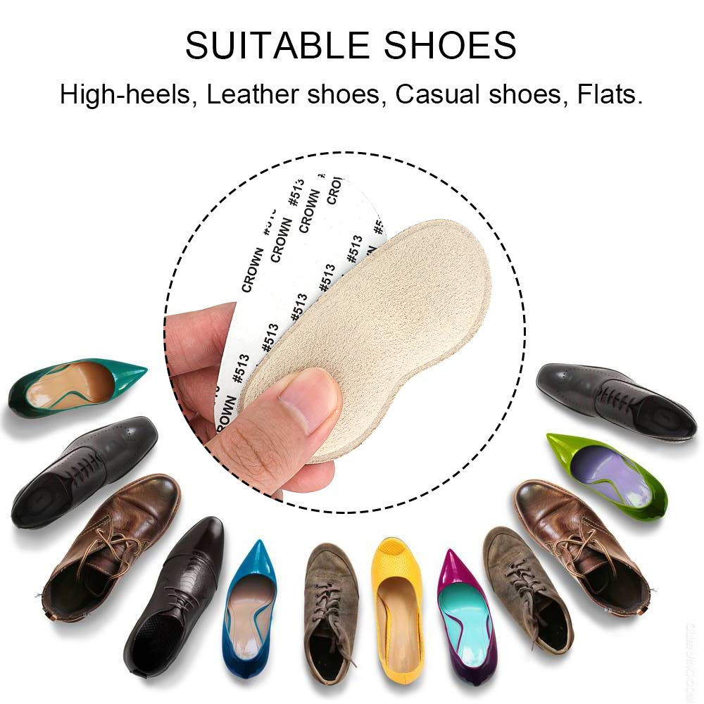Dr. Foot\'s Heel Grips for Women and Men, Self-Adhesive Heel Cushion Inserts Prevent Heel Slipping, Improve Shoes Too Big, Rubbing, Blisters, Foot Pain (Beige)
