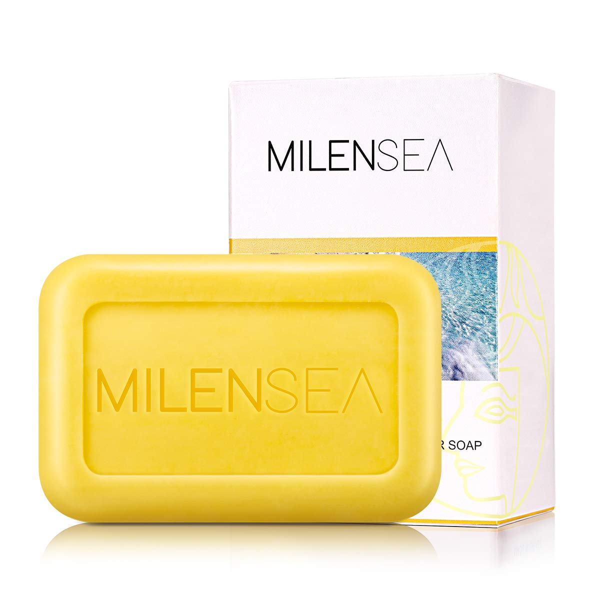 MILENSEA CleoQueen Dead Sea Sulfur Soap, Natural Acne Treatment Face Bar Soap for Acne, Eczema, Oily Skin, Psoriasis, Antimicrobial - With Custom Holder Case & Foaming Pouch - 4.4 OZ (125g) PALOMA DEAD SEA LTD.
