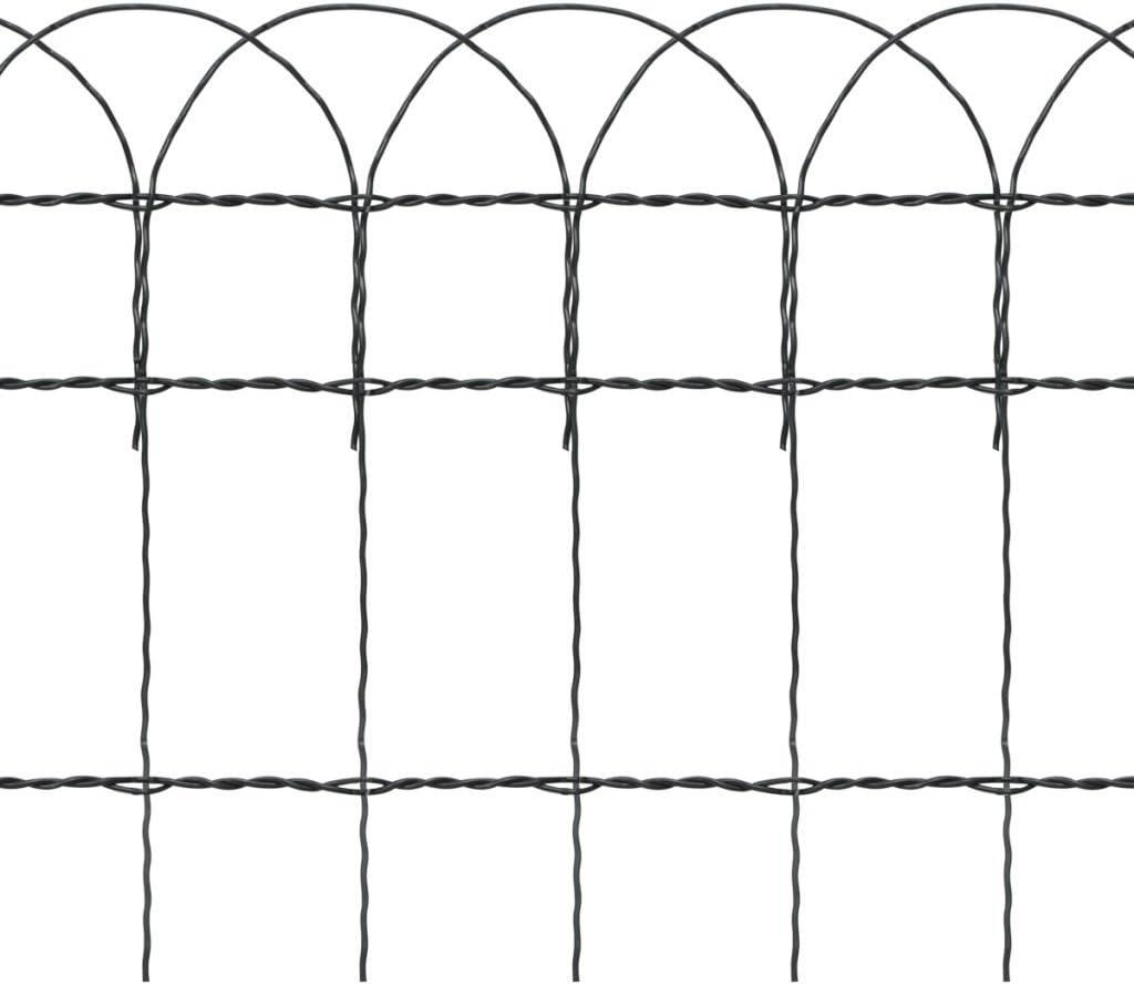 vidaXL Recinzione per Giardino Ferro Verniciato 10x0,4 m Recinto Rete Metallo