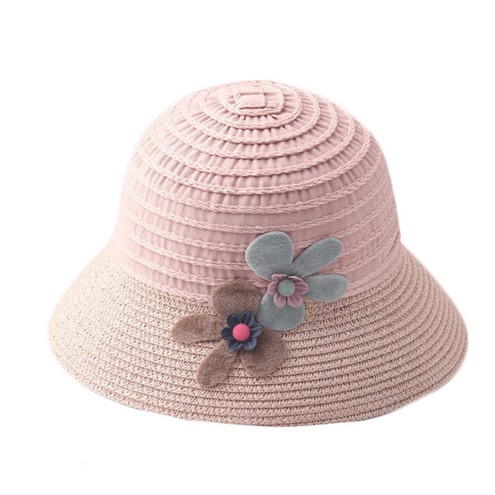 Brand Wide Brim Floppy Straw Sun Hat Beach Children Hat Foldable Summer UV Protect Travel Cap Casual Cap Kids Panama Hats (a)