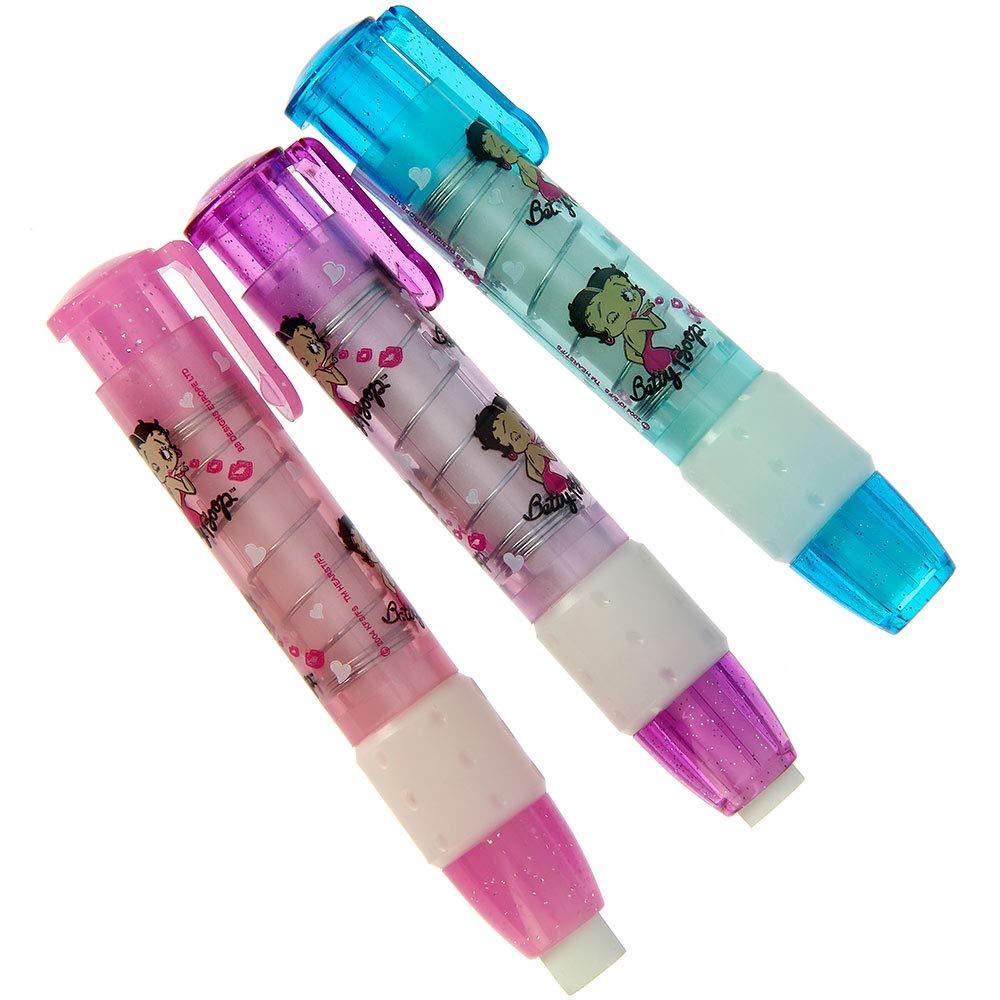 Betty Boop KISS Lot de 3 gommes m/écaniques parfum/ées