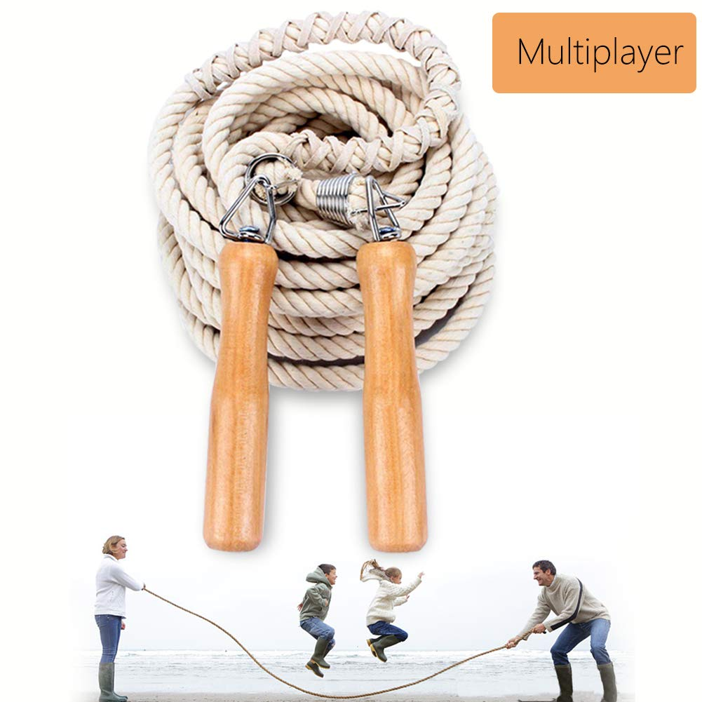 Leadfan Double Dutch Jump Ropes Long Jump Rope for Game/Skipping Rope Multiplayer Group -16ft-22.9ft-32ft-49ft-for…