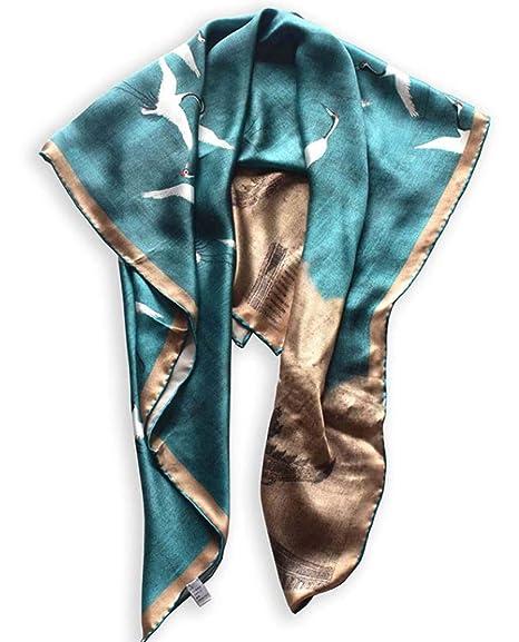 Beautiful silk square scarf wrap shawl beach towel 100/% silk