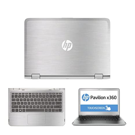 b686026f0a0a Amazon.com: Silver Brushed Aluminum skin decal wrap skin Case for HP ...