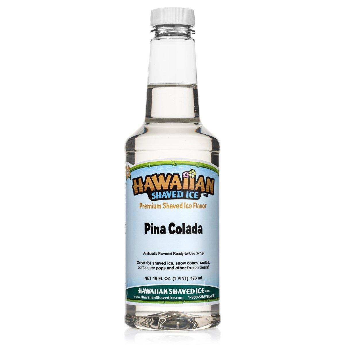 Hawaiian Shaved Ice Syrup, Pina Colada, Pint