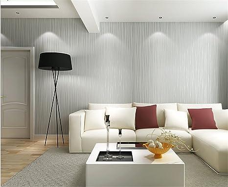 Carta Da Parati A Righe Design : Ufengke semplice moderno colore puro pianura non tessuto a strisce