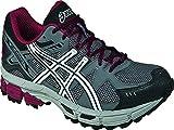 ASICS Men's Gel-Kahana 7 Running Shoe,Titanium/Lightning/Red,9.5 M US