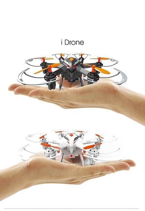 Yi Zhan i Drone i6s 2.4G RC Hexacopo 2.0MP HD Cámara 3D Rollover Un Clave De Regreso Drone Blanco: Amazon.es: Electrónica