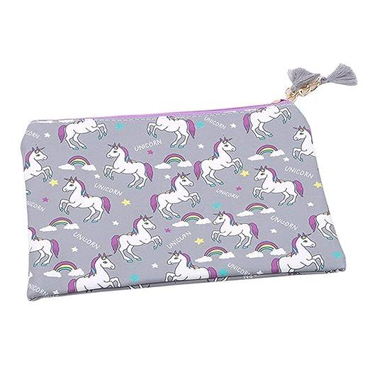 Vektenxi - Monedero de tela para mujer, diseño de unicornio ...