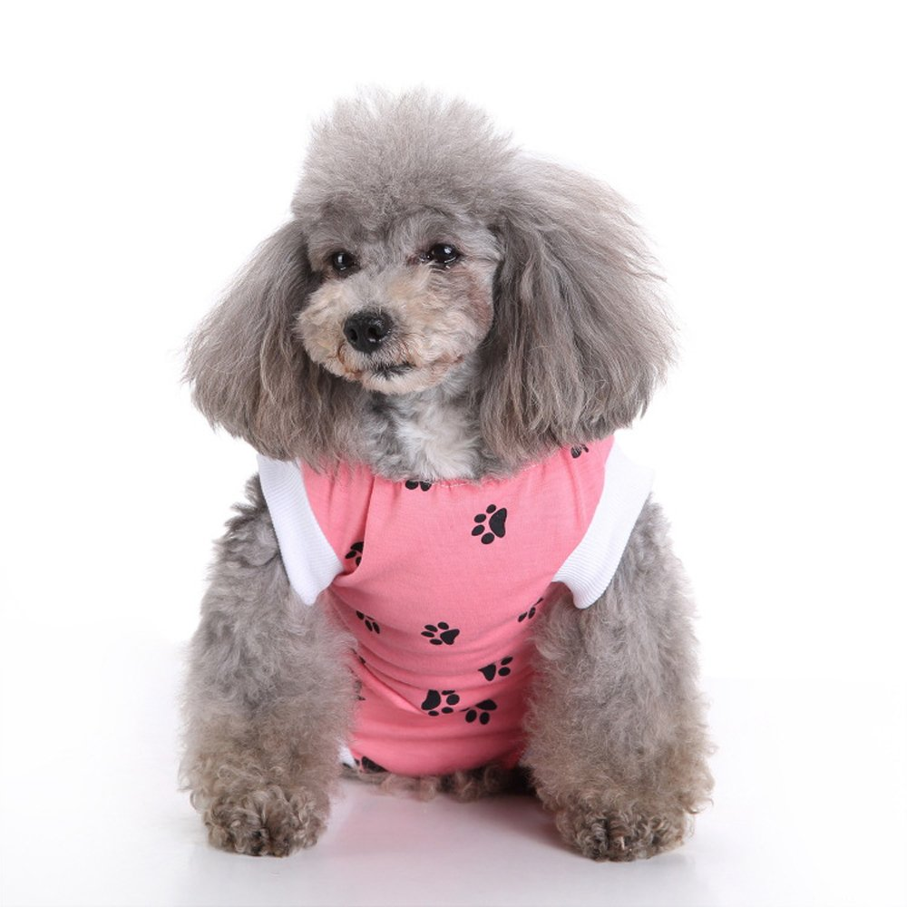 NEPPT After Surgery Wear Post Shirt Anxiety Dog Surgical Suit Wrap Body Pet Infection General Recovery Medical For Dogs(L, Pink) by NEPPT (Image #1)