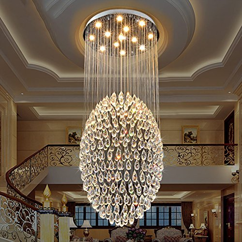 (ChuanHan Pendant Lighting Fixture Pendant Lamps Contemporary Modern K9 Crystal Chandelier Lighting Wedding Cafe Pendant Ceiling Kitchen Restaurant Restaurant Restaurant Brilliant Light, 6 Lights/ )