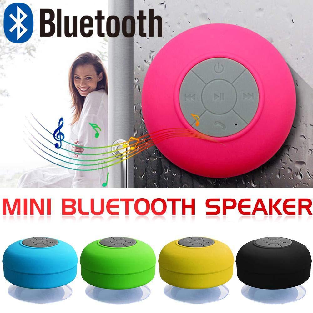 Blu Mini parlante bluetooth impermeabile e senza fili per bagno con ventosa Diuspeed