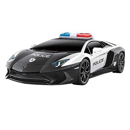 Amazon Com Qun Feng Police Rc Car 1 24 Compatible For Lamborghini