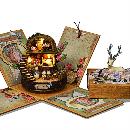 Rylai Wooden Handmade Dollhouse Miniature DIY Kit – Fantasy Forest Series Dollhouses For Girls Wood Room  Furniture/Accessories