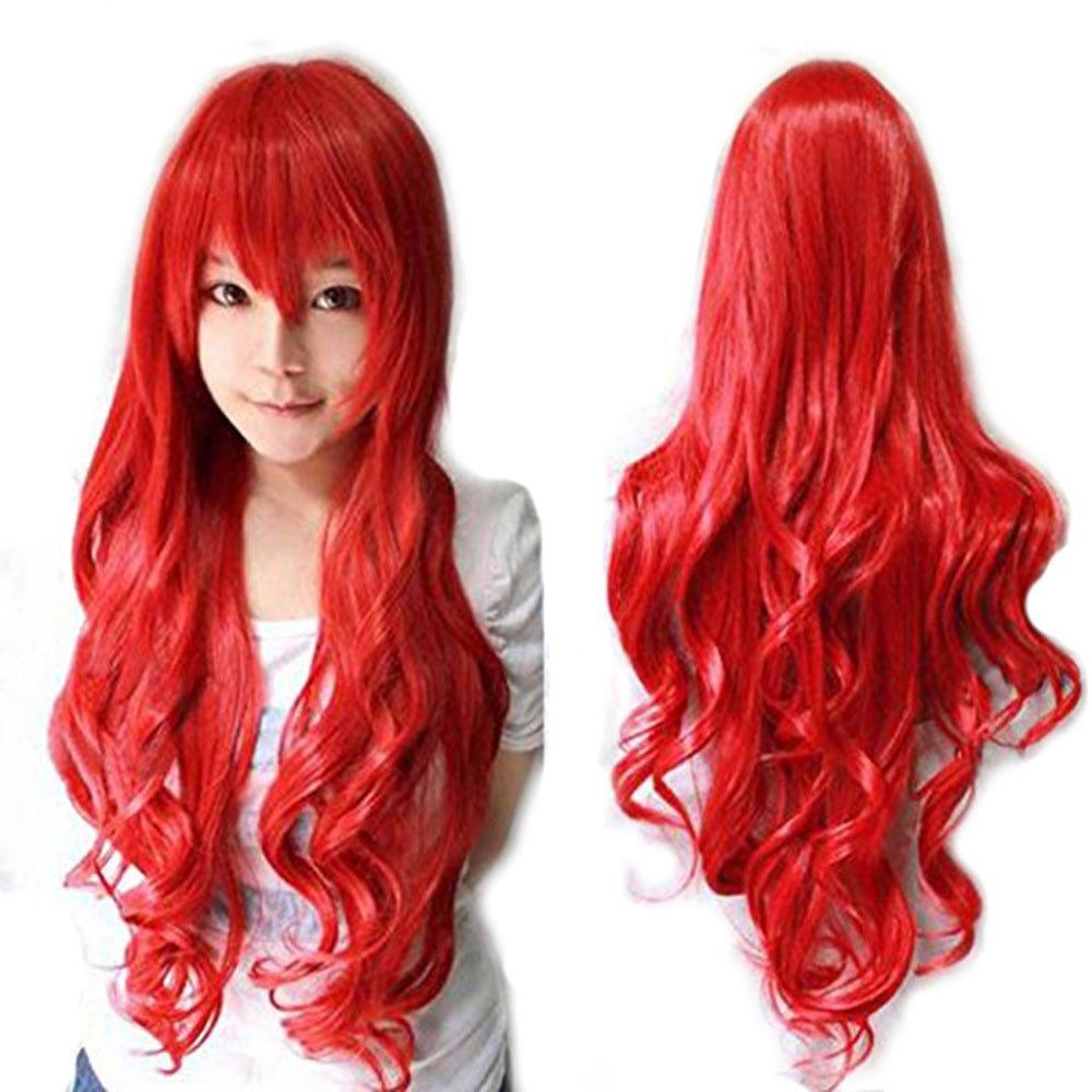 Anogol Vocaloid 32 80cm Long Wavy Womens Costume Wigs Lolita Cosplay