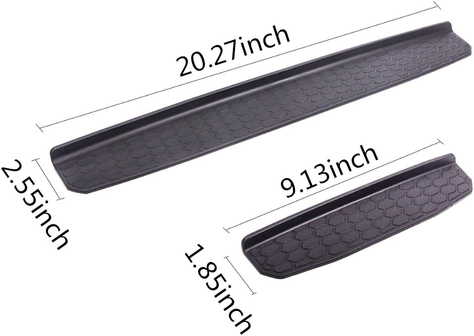 YOCTM Car Accessories Door Sill Protector Plate Nerf Bars Running Board Entry Guard Boards for Jeep Wrangler JL 2018 4-Door