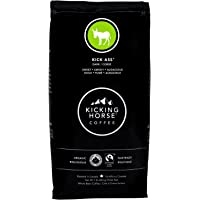 Kicking Horse Coffee, Kick Ass, Dark Roast, Whole Bean, 1 lb - Certified Organic, Fairtrade, Kosher Coffee
