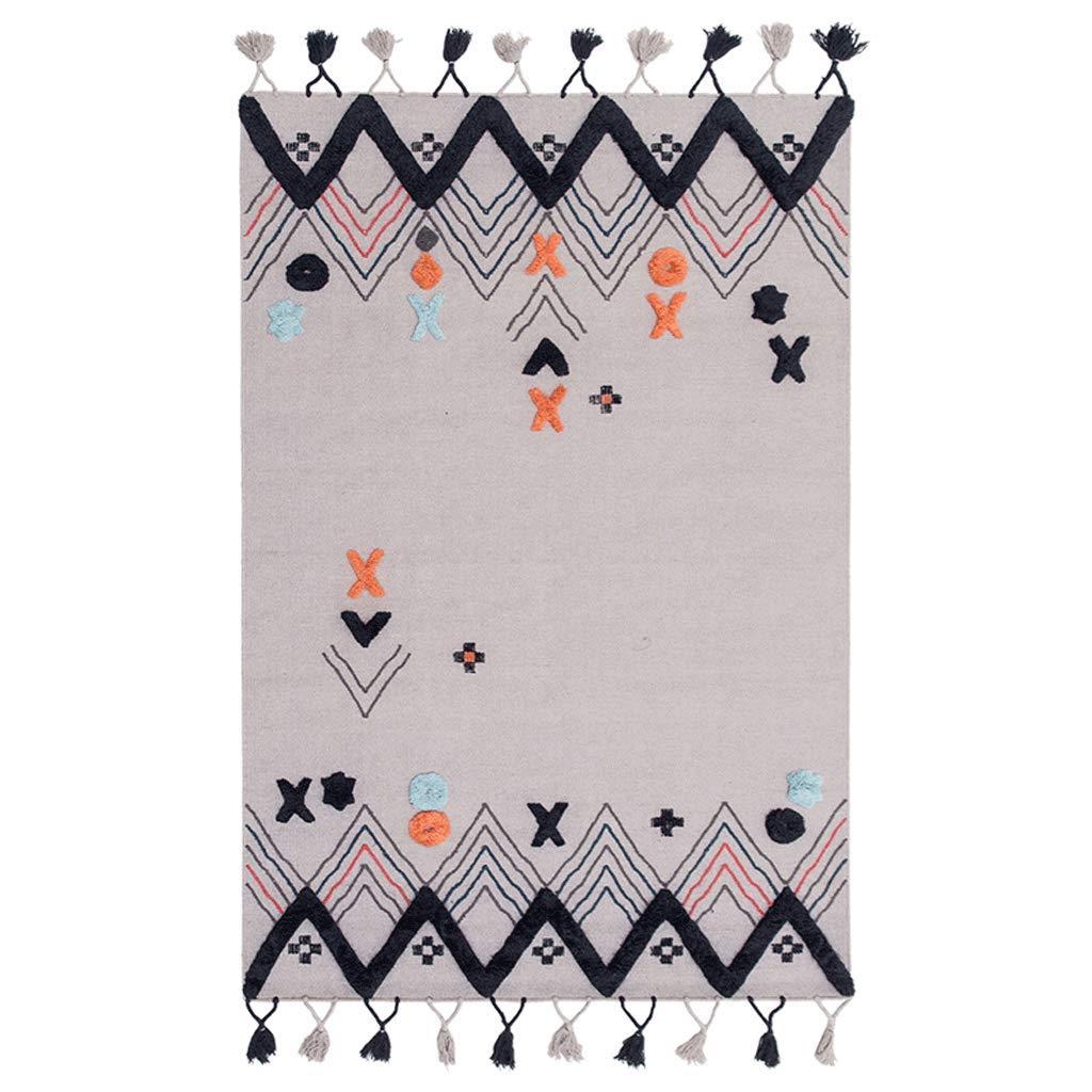 モロッコスタイル手織りのウールのカーペットのリビングルームコーヒーテーブルのベッドルームノルディックカーペット (色 : マルチカラー まるちから゜, サイズ さいず : 160cm×230cm) 160cm×230cm マルチカラー まるちから゜ B07KV1YVDP