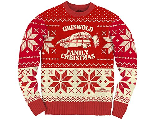 Ripple Junction National Lampoon's Christmas Vacation Family Xmas Pattern Adult Sweater Large -