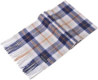 Haojing Women Men Winter Lambwool and Cashmere Luxury Solid Plaid Tartan Soft & Warm Scarf With Gift Box