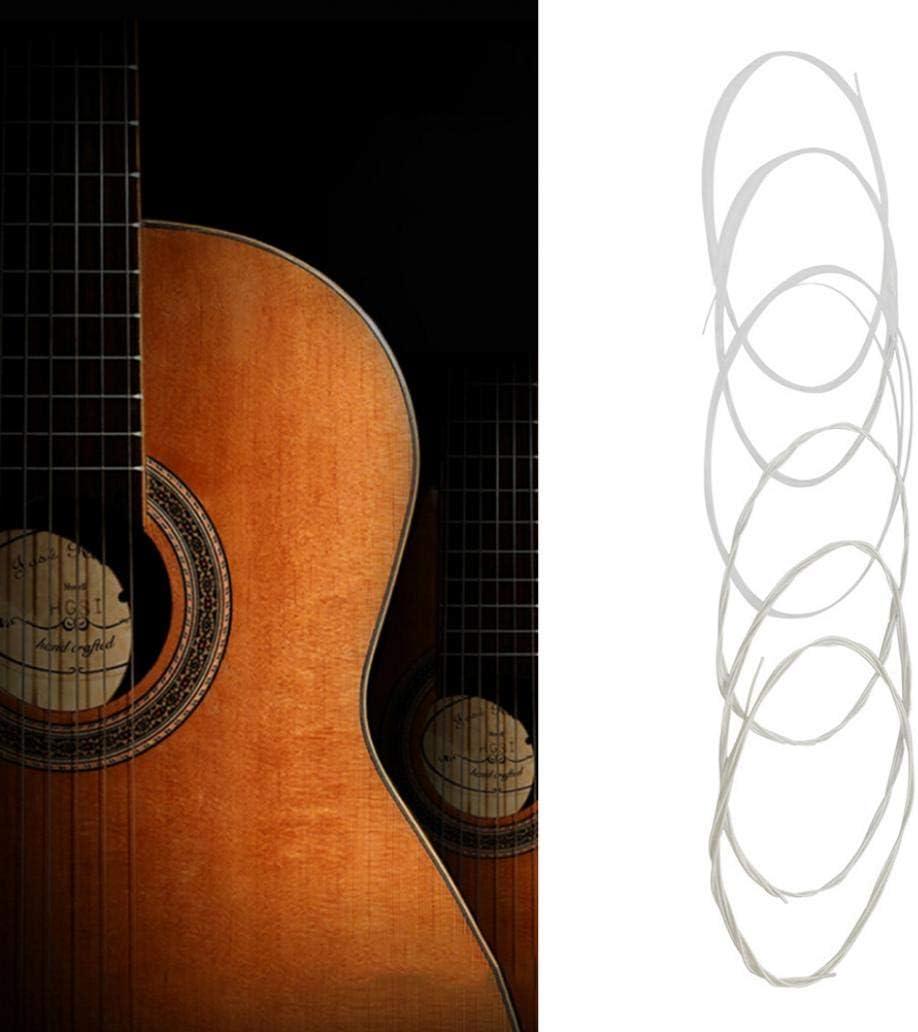 Perlo33ER C670 6Pcs Conjunto de cuerdas de aleación de cobre de nylon Accesorios de guitarra acústica clásica