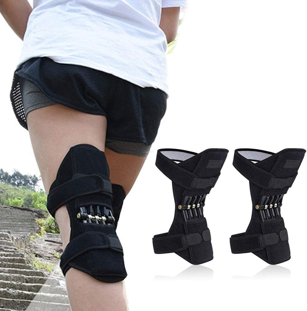 Refuerzo de protección de rodilla, Órtesis articulada de rodilla Protección de rodilla Impulsor de resorte, Soporte de articulación tibial, Levantamiento de potencia de alpinismo, Lesiones deportivas,