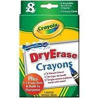 Crayola Large Dry Erase Crayons, 8 count (98-5200)