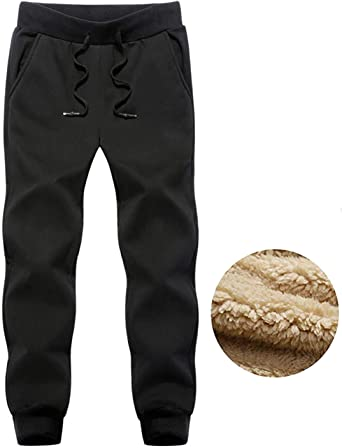 Gihuo Mens Casual Fleece Lined Winter Pant Active Jogger Sweatpants