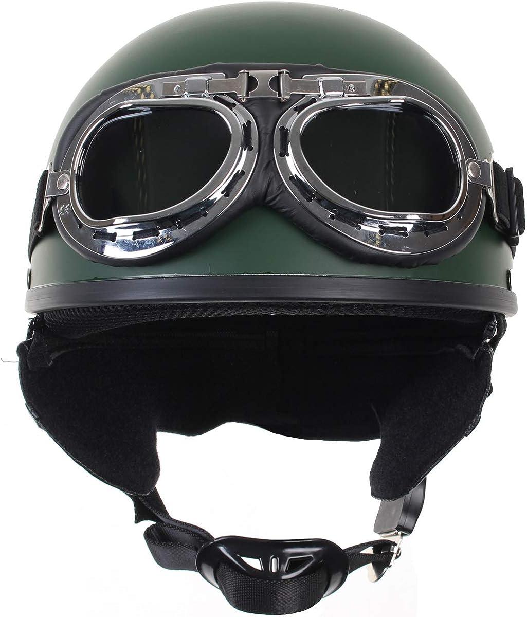MIL-TEC Casco a scodella con occhiali