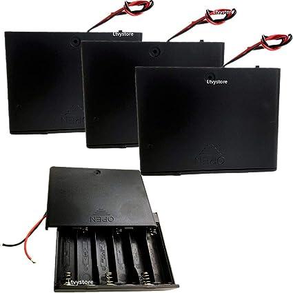 2PCS Plastic Battery Storage Case Box Holder Soldering For 1.5V AA Battery