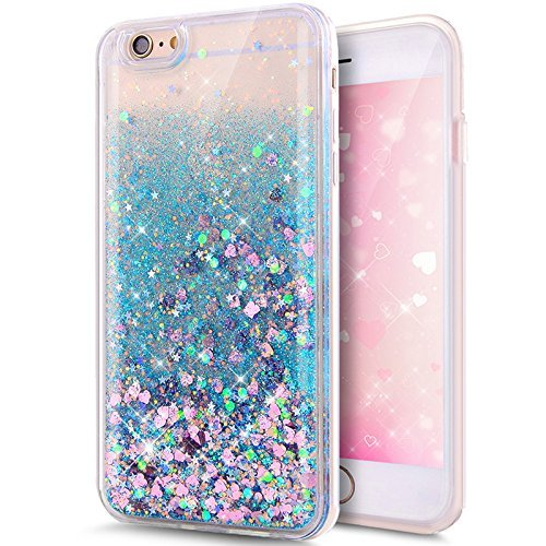 - Rejected all traditions 3D Liquid Bling Quicksand Glitter Star Love Dynamic Flowing Soft TPU Case Cover For iPhone 6 6s 4.7inch (Blue Heart)